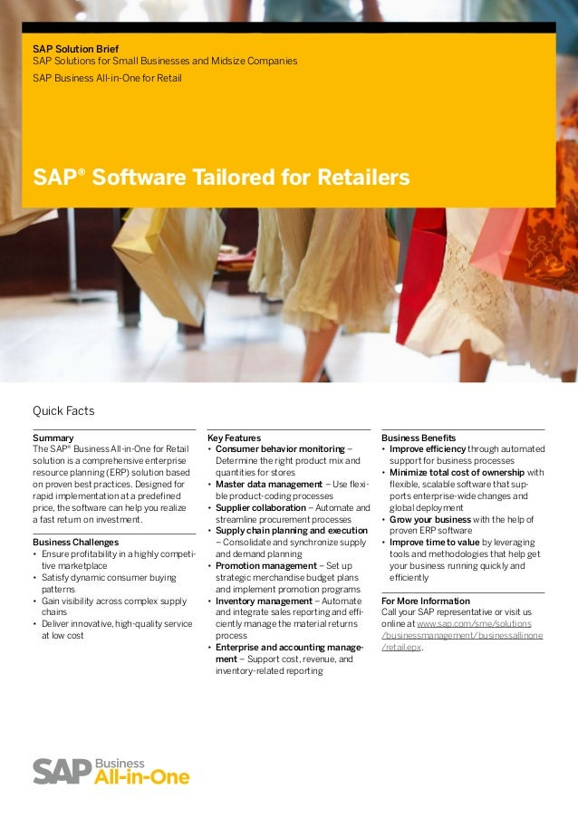 sap solutions for small businesses and Sap business one is an affordable, easy-to-use business management solution designed specifically for growing small to midsized businesses and subsidiariessap business one is not a scaled-down version of the larger sap products.