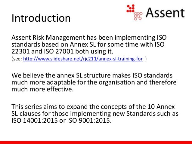 ISO Annex SL Clause 7: Support Slide 2