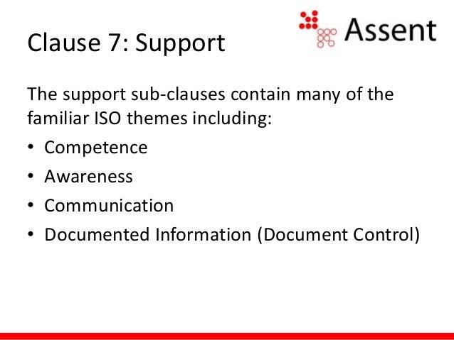 ISO Annex SL Clause 7: Support Slide 3
