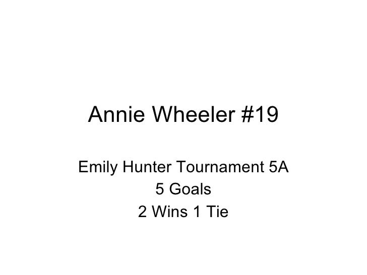 Annie Wheeler #19 Emily Hunter Tournament 5A 5 Goals 2 Wins 1 Tie