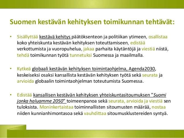 kestävän kehityksen periaatteet hoitotyössä Suonenjoki