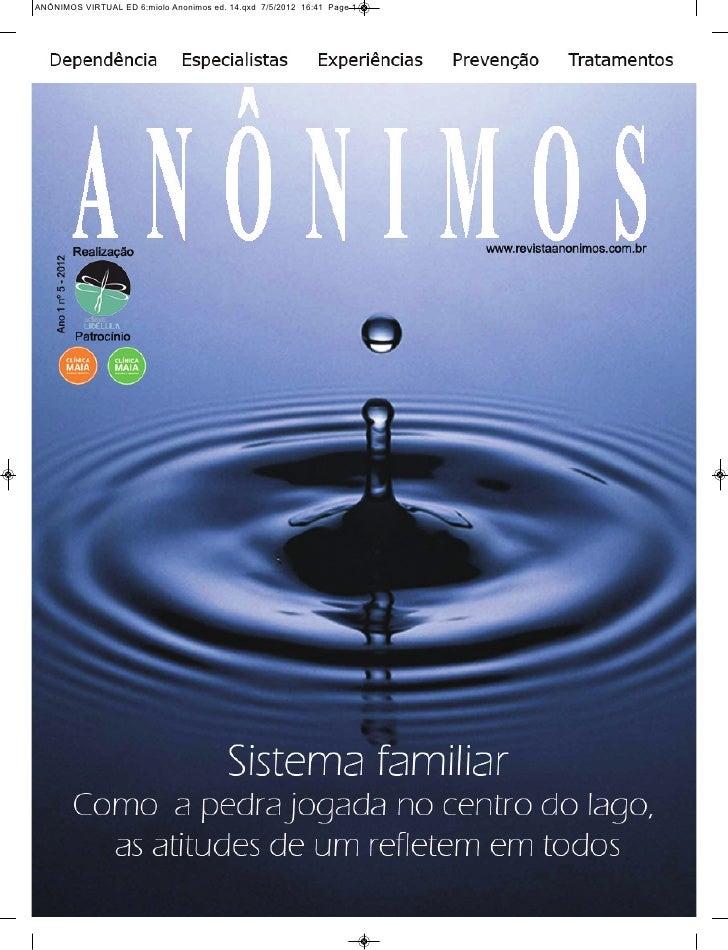 ANÔNIMOS VIRTUAL ED 6:miolo Anonimos ed. 14.qxd 7/5/2012 16:41 Page 1