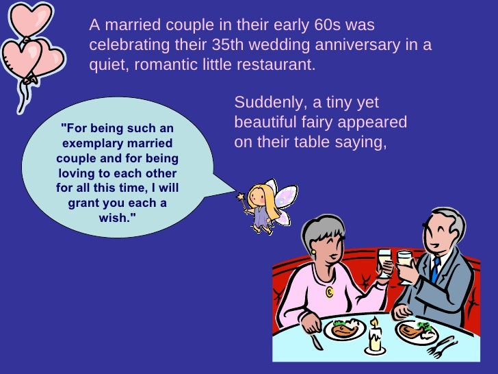Wedding Anniversary Gifts For Parents 35 Years : ... 35th wedding anniversary in a quiet, romantic little restaurant