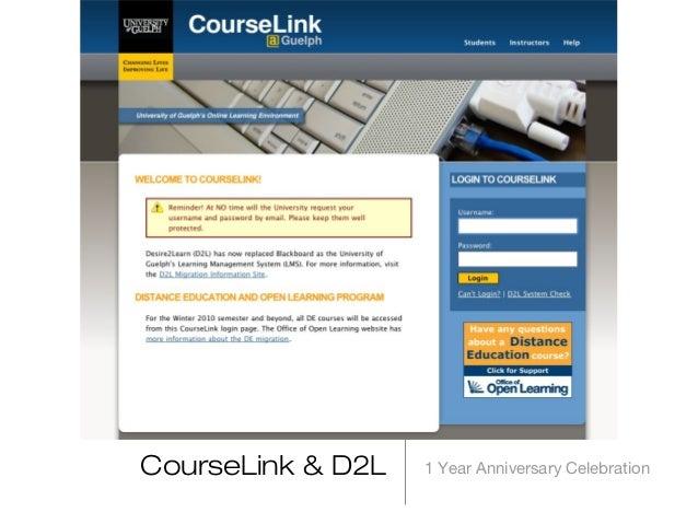 1 Year Anniversary CelebrationCourseLink & D2L