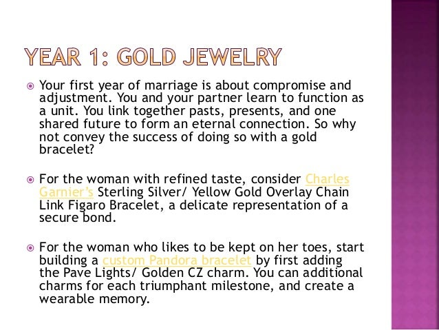 the anniversary gift guide jewelry gift ideas by year