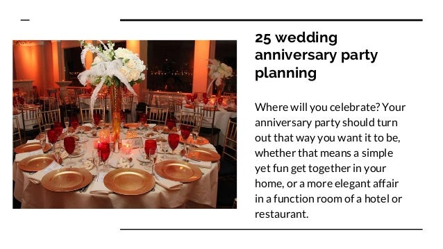 Anniversary Party Planning
