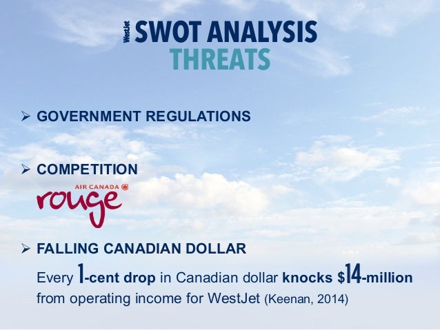 westjet swot Macro analysis to assess the macro-environment of southwest airlines, a  pestel analysis will be used by assessing the political, economic,.