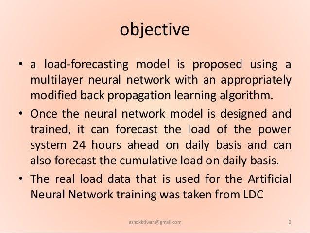 ANN load forecasting