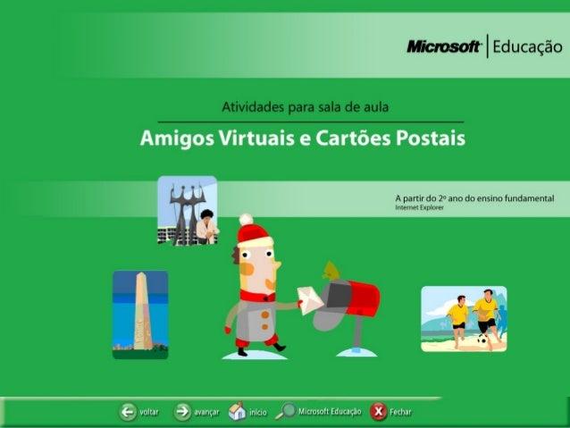 Amigos Virtuais e Cartões Postais