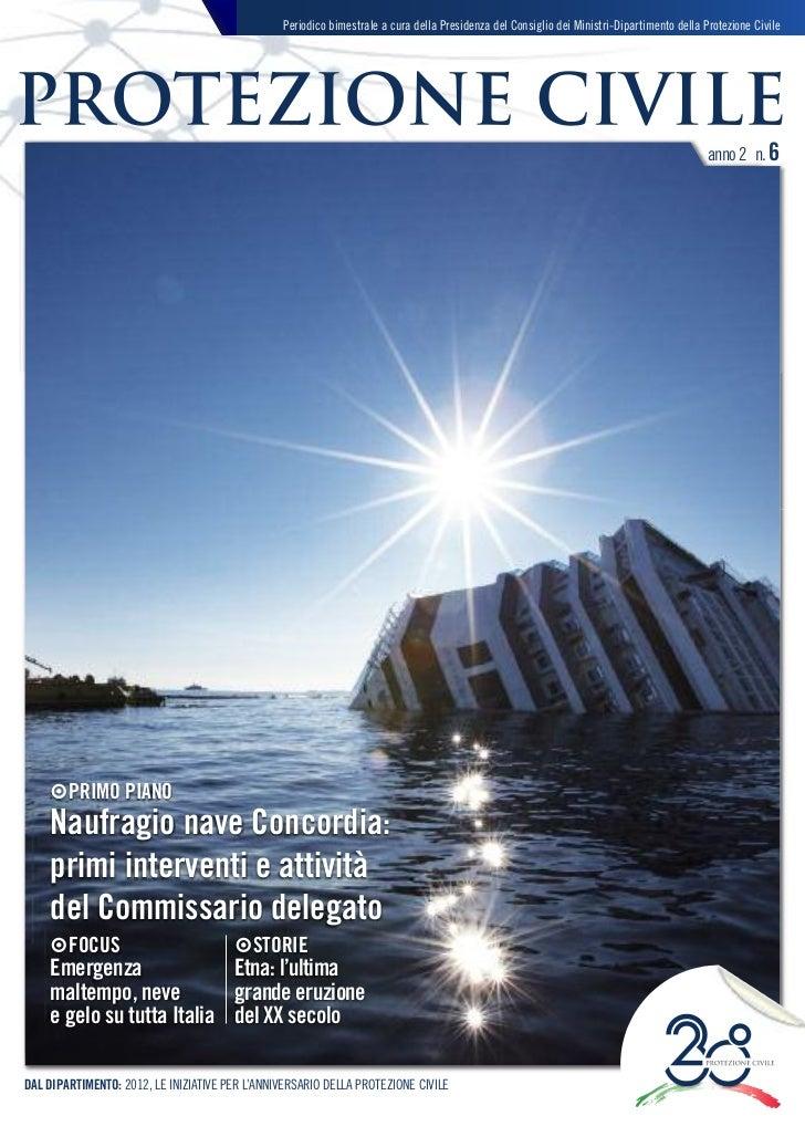 magazine protezione civile - anno 2 - n. 6 - gennaio-febbraio 2012