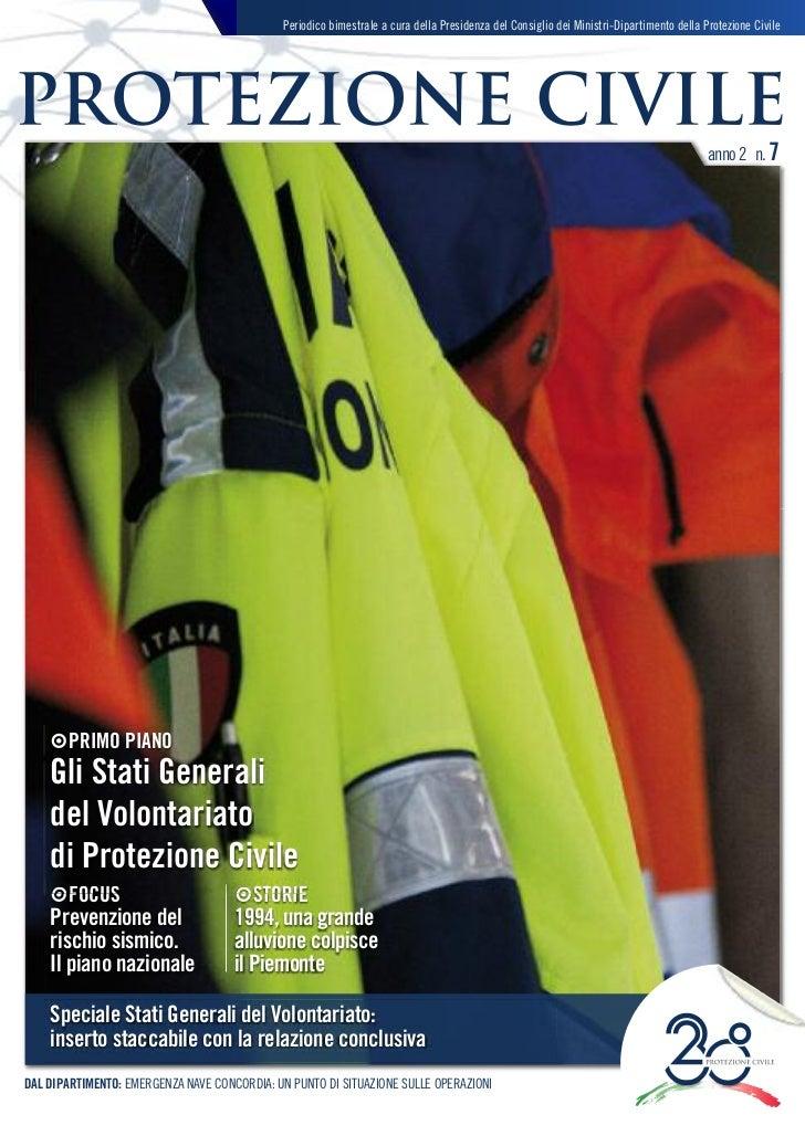 magazine protezione civile - anno 2 - n. 7 - marzo-aprile 2012