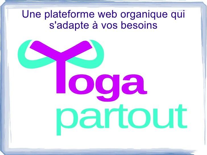 Une plateforme web organique qui s'adapte à vos besoins