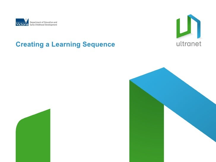 Creating a Learning Sequence