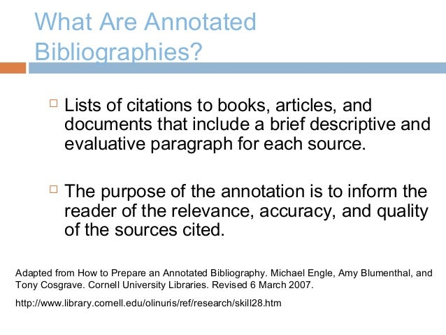 use annotated bibliography research paper Step by step explanation of how to do an annotated bibliography annotated bibliographies write how you will use this article in your research paper.