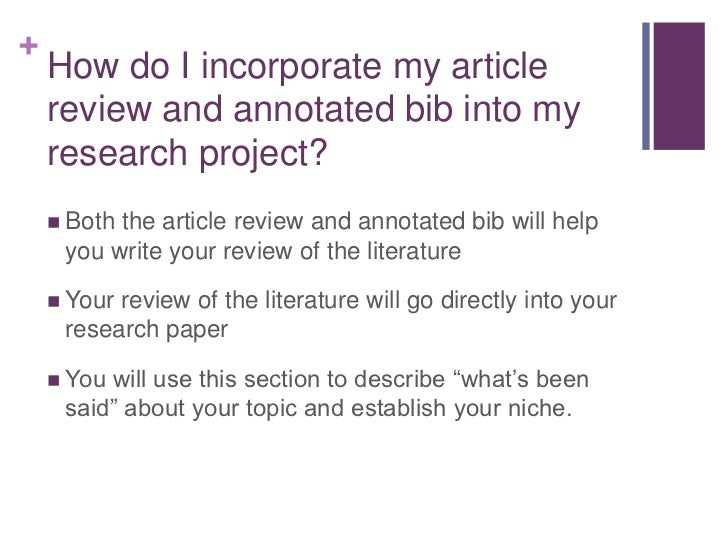 where does the literature review go in a research paper