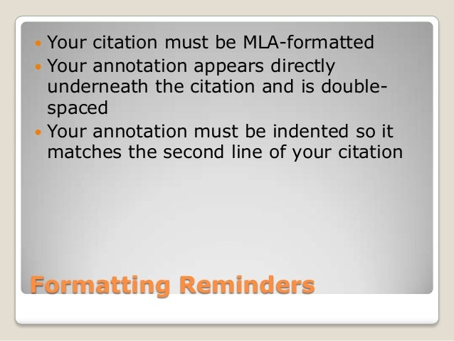 Example MLA Annotated Bibliography  Easy Bib Screen Shot            at          PM png