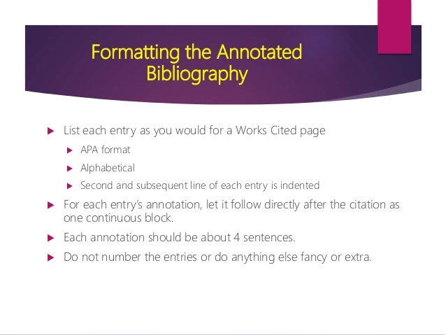 The Annotated Bibliography SlideShare