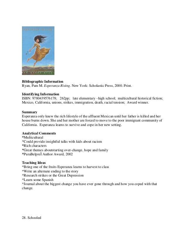 Kims annotated bibliogrphy esperanza rising 27 ccuart Gallery