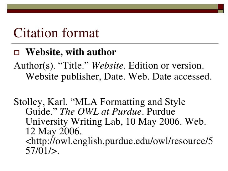 Annotated bibliography example websites mla