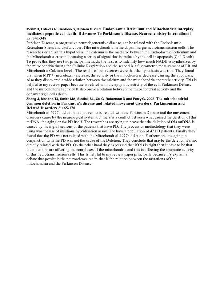Moniz D, Esteves R, Cardoso S, Oliviera C. 2009. Endoplasmic     Reticulum and Mitochondria interplaymediates apoptotic ce...