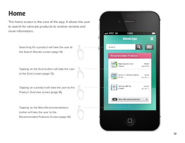 SkinScope iOS App - Process & Annotated Designs