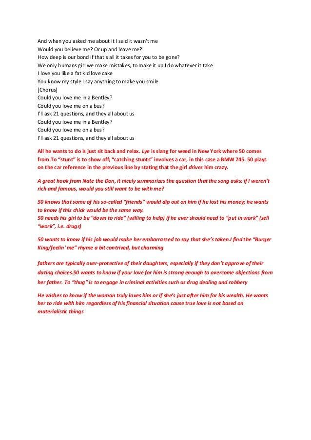 Lyric he wants it all lyrics : Annotated Lyrics