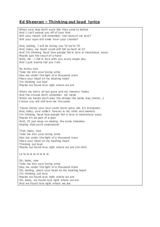Ed Sheeran Annotated lyrics by Ashraf