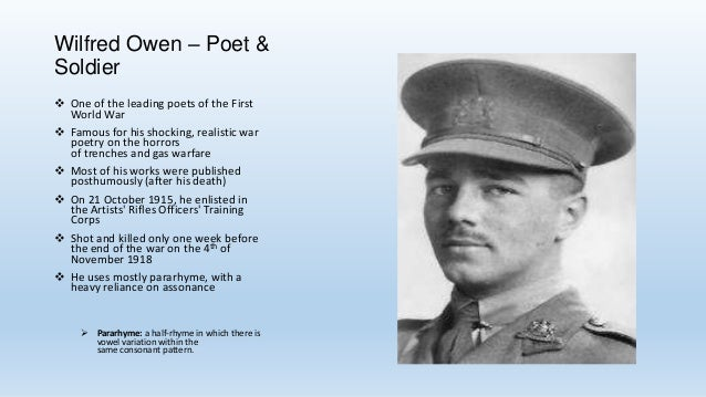 Annotating & analysing poetry + ww1 + wilfred owen