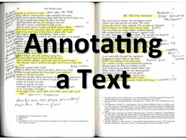 Reading annotation