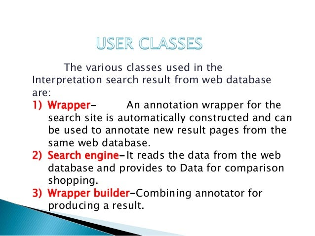Annotating Search Results from Web Databases - jpinfotech