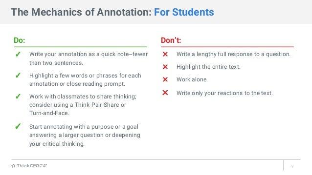 Test Preparation Strategy: Annotation