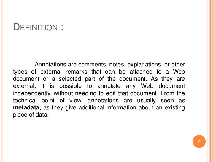 Image Result For Annotation Definition