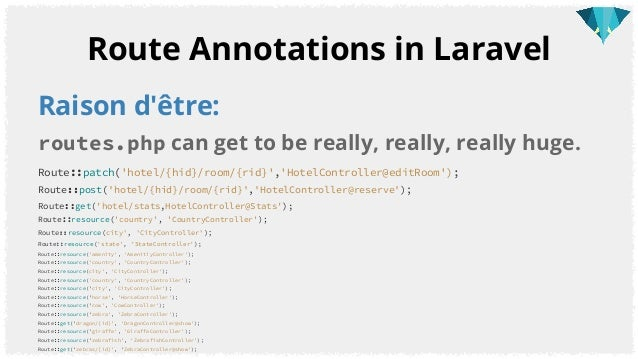 Laravel 5 Annotations: RESTful API routing