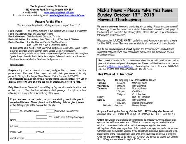 image regarding St Nicholas Prayer Printable identify Bulletins 13 Oct 2013