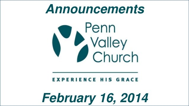 Announcements  February 16, 2014
