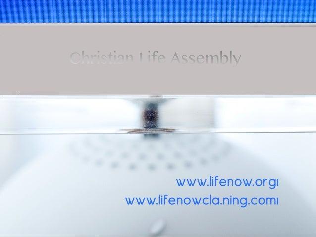 www.lifenow.orgıwww.lifenowcla.ning.comı