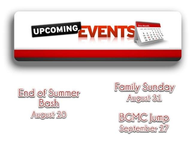 Announcements, 8/10/14