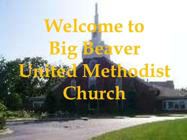 Welcome to Big Beaver United Methodist Church