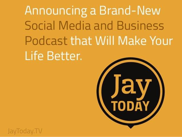 I'm Jay Baer ! Digital Marketing Pioneer Social Media and Content Marketing Consultant Podcast Host Blogger Marketing Keyn...