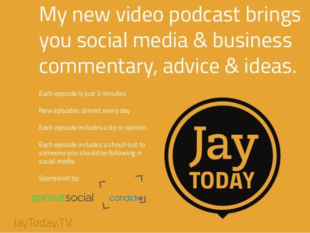 My new video podcast brings you social media & business commentary, advice & ideas. ! Each episode is just 3 minutes ! New...