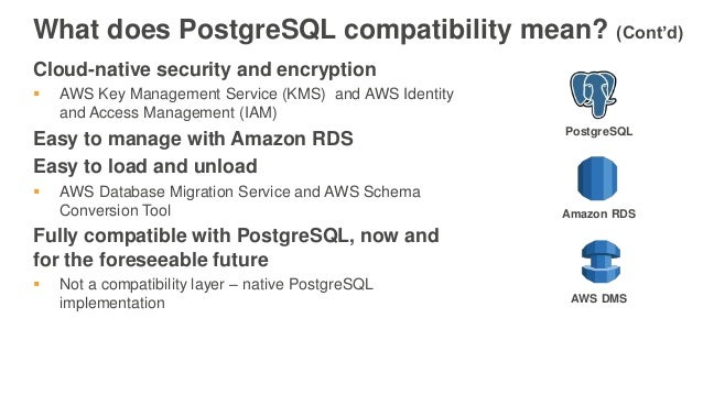 Announcing Amazon Aurora with PostgreSQL Compatibility - January 2017…