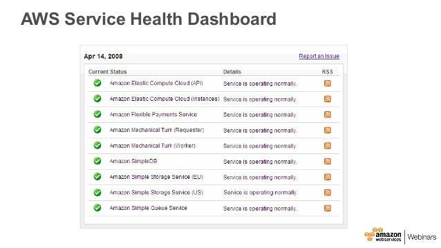 personal health dashboard Announcing AWS Personal Health Dashboard - January 2017 AWS Online Te…