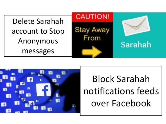 Annoyed by Sarahah messaging app over fb call @+1 855-510-0444