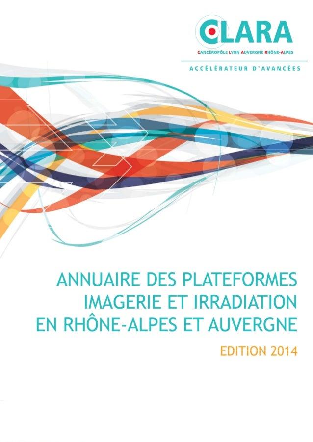 CLARA / Annuaire des plateformes 2014 1