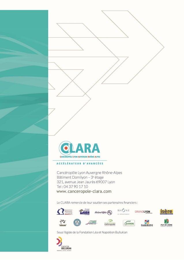 CLARA / Annuaire des plateformes 2014 1 www.canceropole-clara.com CLARA / Annuaire des plateformes 2014 1 www.canceropole-...