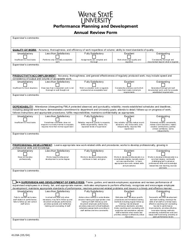 Annual appraisal-form