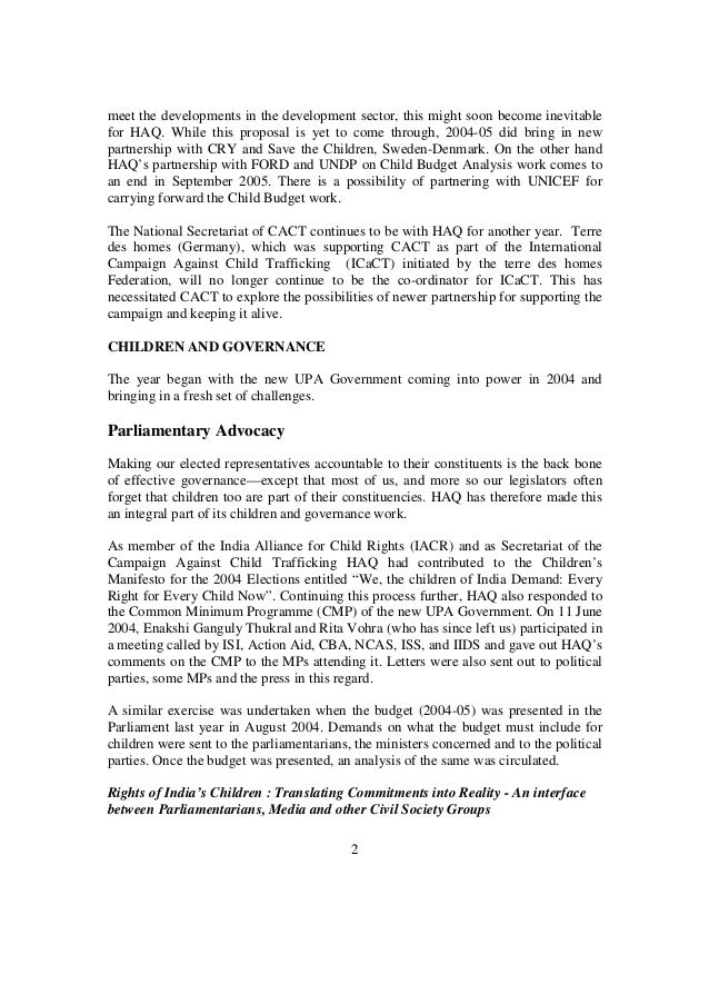 annual report of haq centre for child rights   3