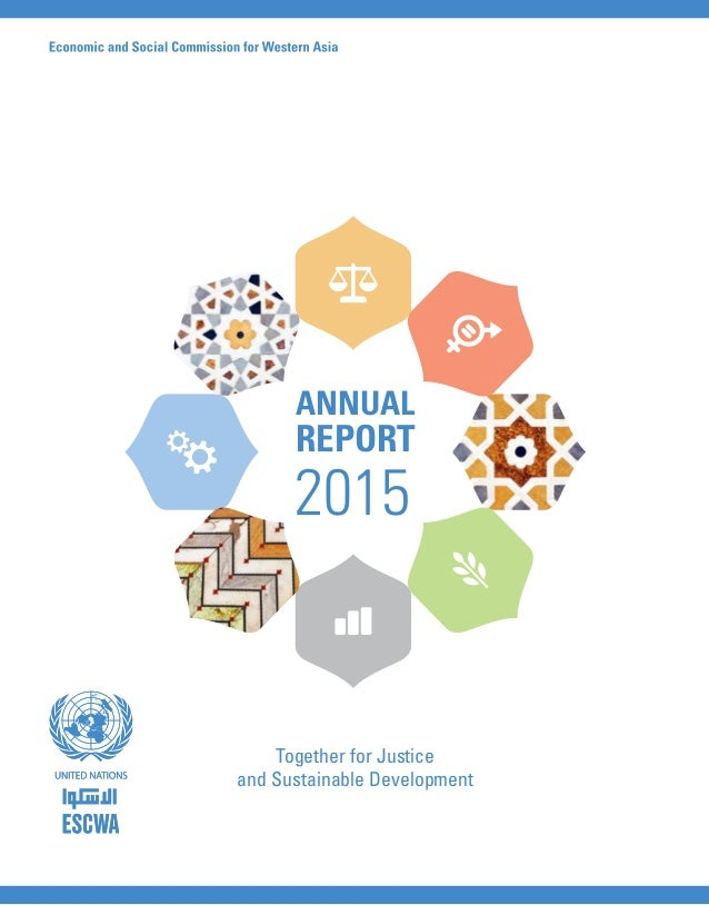 Together for Justice and Sustainable Development ANNUAL REPORT 2015