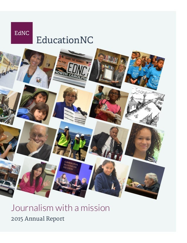 EdNC EducationNC Journalism with a mission 2015 Annual Report