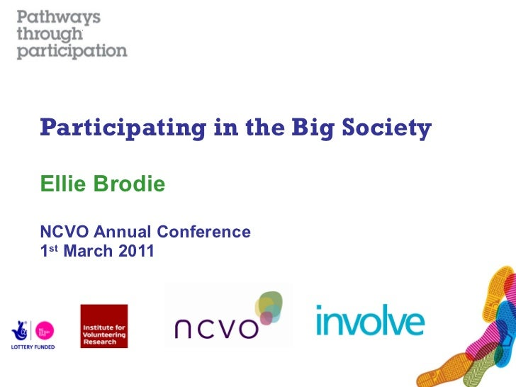 Participating in the Big Society Ellie Brodie NCVO Annual Conference 1 st  March 2011